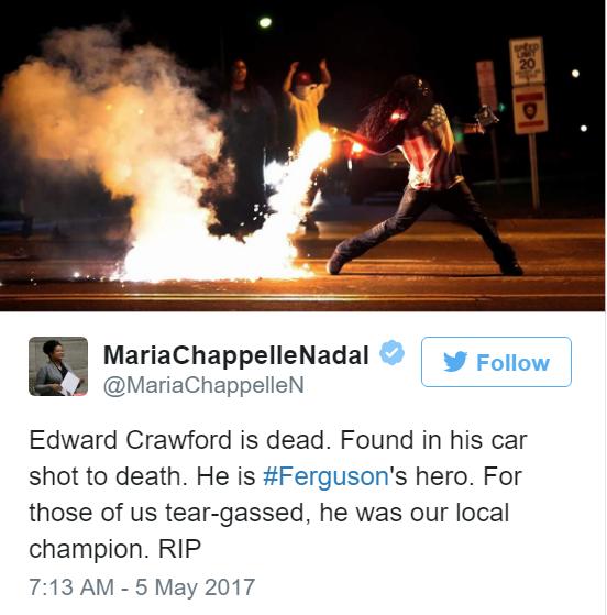 Ferguson Protester In Famous Photo Found Dead