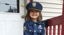5-Year-Old Celebrates Birthday With Her Favorite Police Officer