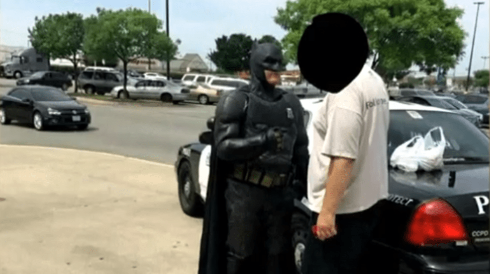 Police Officer Dressed As Batman Arrests Shoplifter