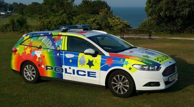 "Police ""gay-mobile"""