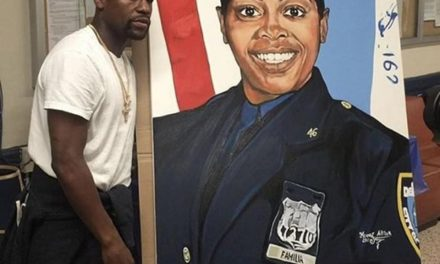 Mayweather Stops At Bronx Precinct To Honor Fallen Officer Miosotis Familia