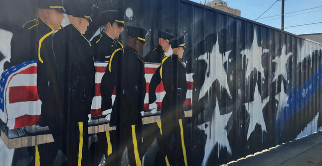 Owner of Dallas Mural Honoring Fallen Officers Gets Code Citation