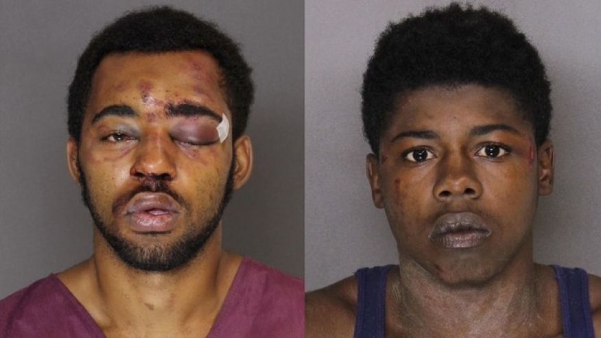 Easy collar: Men accused of robbing bar during police party