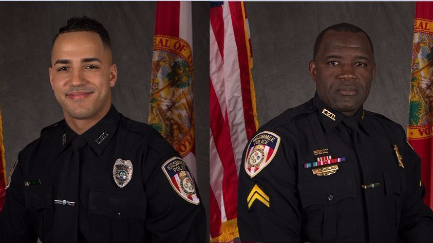 Two police officers shot dead in Florida city of Kissimmee