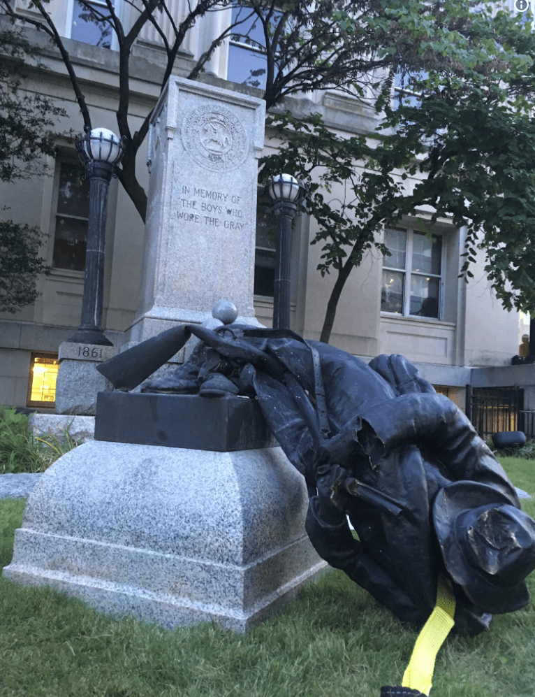 Sheriff To Charge Protesters Who Pulled Down Confederate Statue