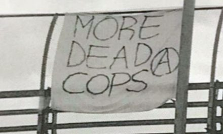 'More Dead Cops' Banner Hangs Over Freeway