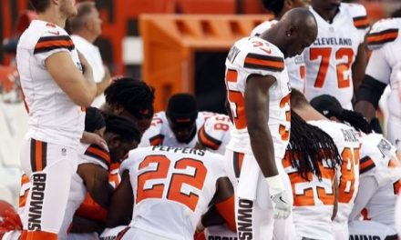 Cleveland Police Refuse To Hold Flag At Game After Players Kneel