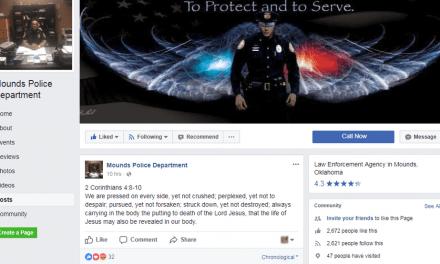 ACLU Tells Police Department To Stop Posting Bible Verses