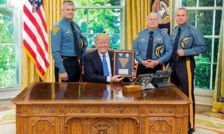State Police Give President Trump Badge #45