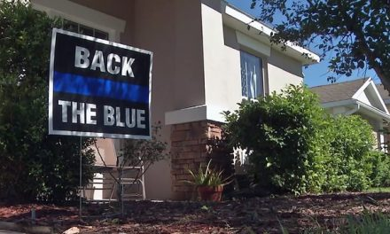Homeowner Association Says 'Back the Blue' Signs Must Go
