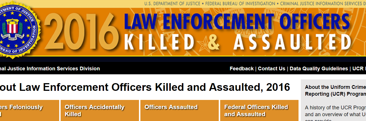 FBI: Police Officer Felonious Deaths Up 60%