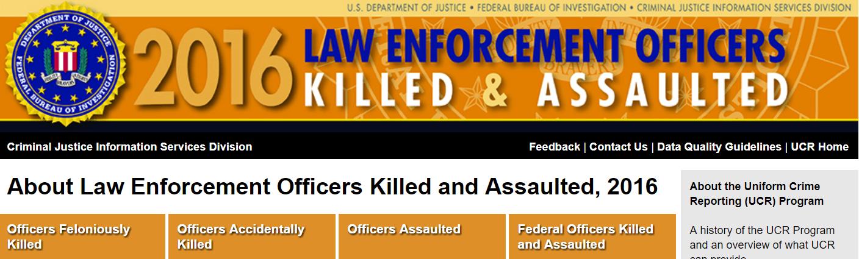 FBI: Police Officer Felonious Deaths Up 60%
