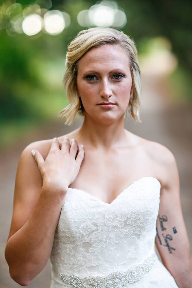 Fiancé Of Fallen Sergeant Poses For Wedding Photos…Alone