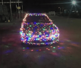 South Carolina Man Fined $232 For Christmas Light Car