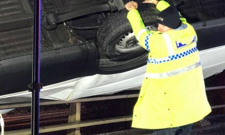 'Superman' Police Officer Holds Car From Falling From Bridge