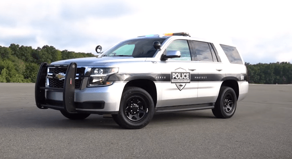 Chevy Tahoe Police Pursuit Vehicle Adds Safety Features