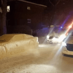 Artist Fakes Out Police With 'Snow Car'