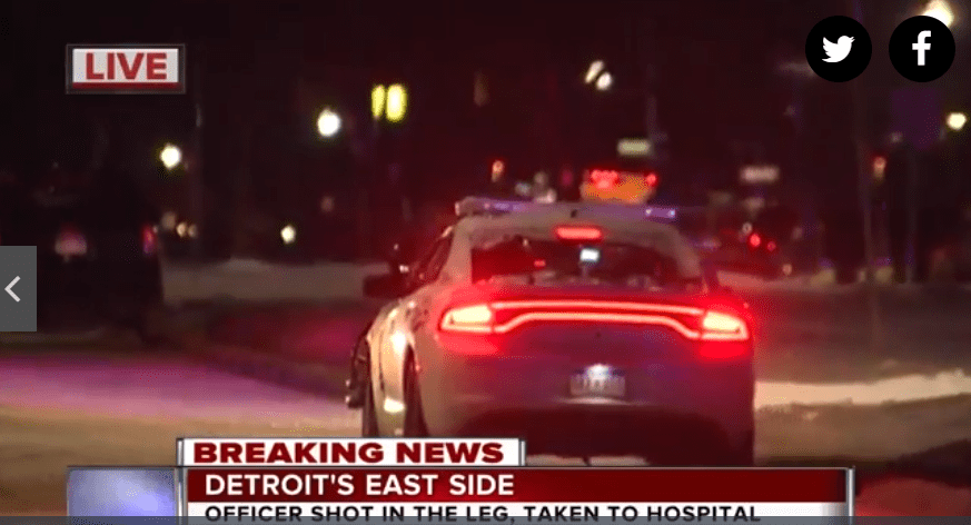 Detroit Police Officer Shot, Suspect Barricaded
