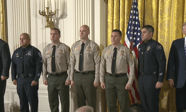 President Trump Issues Medal Of Valor To 12 First Responders