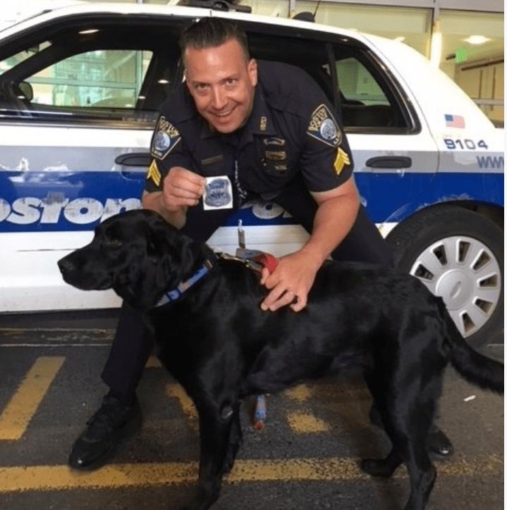 Boston Police Sergeant Deputizes Family Dog For a Day