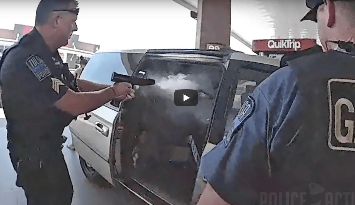 Watch: Tulsa Police Sergeant Shot Deploying Less Lethal