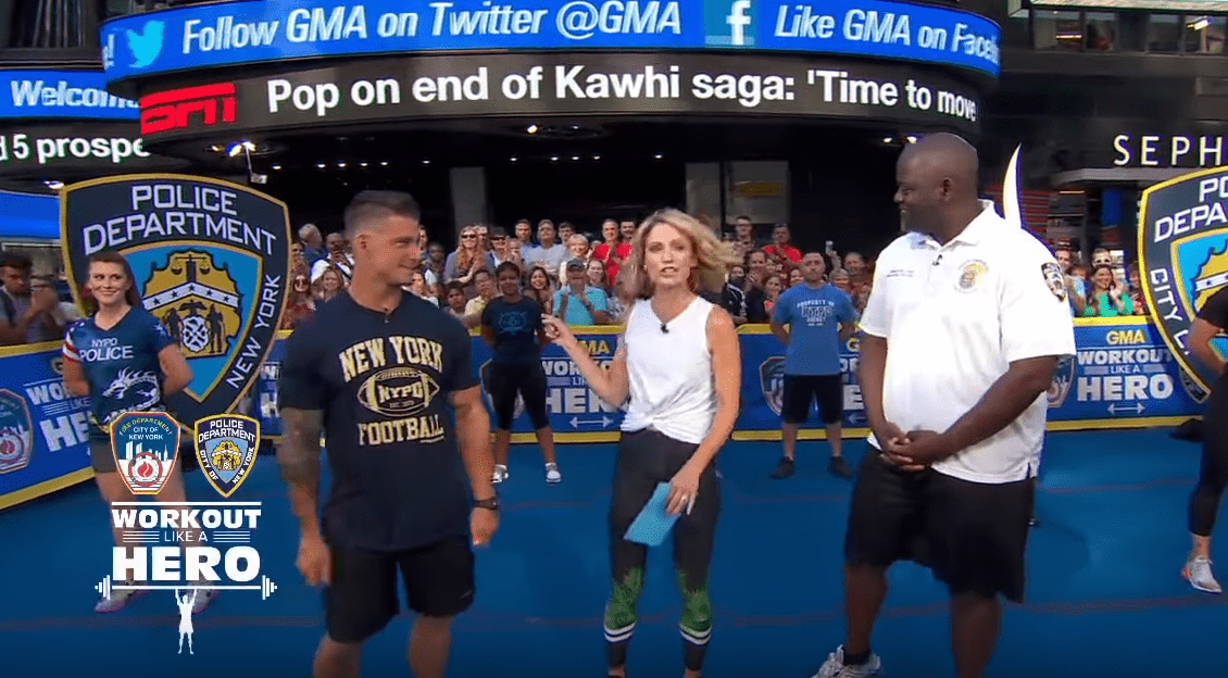 Watch: NYPD Sports Teams Gives Workout Tips on GMA