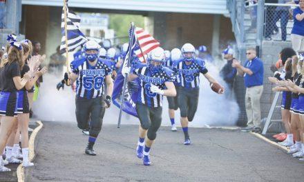 High School Football Teams Honor First Responders