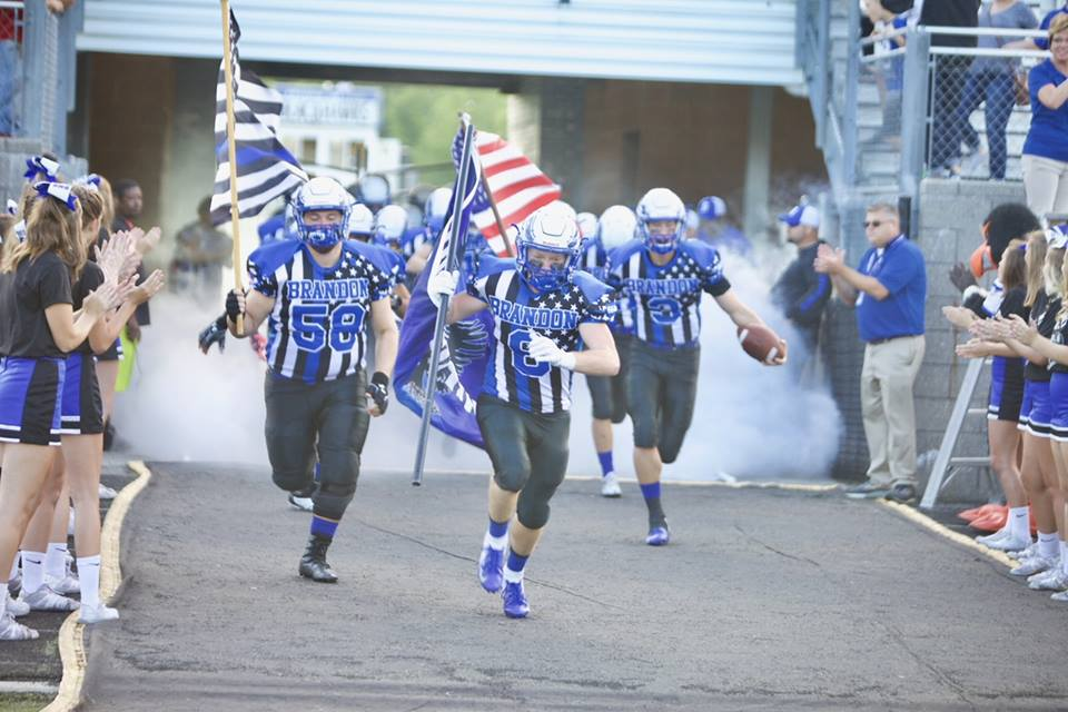 High School Football Teams Honor First Responders