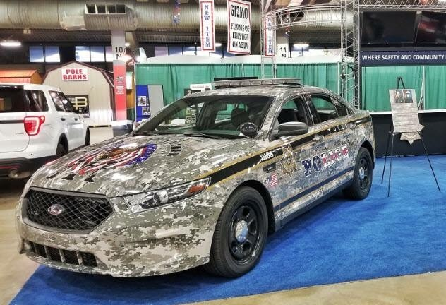 Police Car Honors Military Veterans