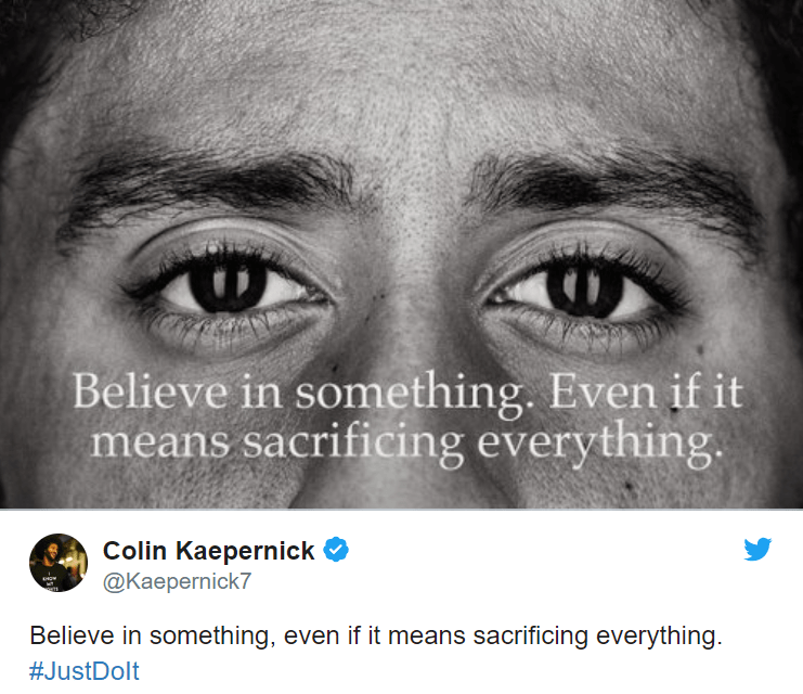 Colin Kaepernick Part Of Nike 'Just Do It' Protest Ad