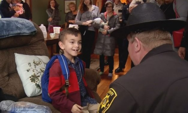 Maine Officers Escort Boy To Final Chemo Treatment