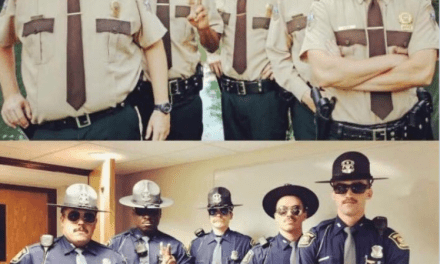 Michigan State Police Strike 'Super Troopers' Pose