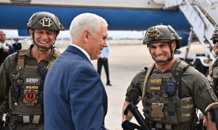 Deputy Disciplined After Wearing Unauthorized Patch In Vice President Photo
