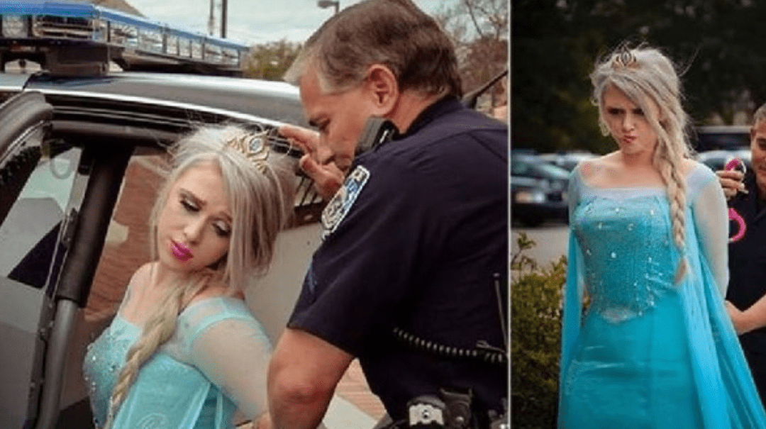 Police 'Arrest' Elsa Due To Extreme Cold