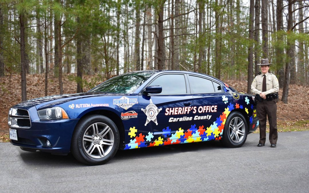 Sheriff's Patrol Car Highlights Autism Awareness