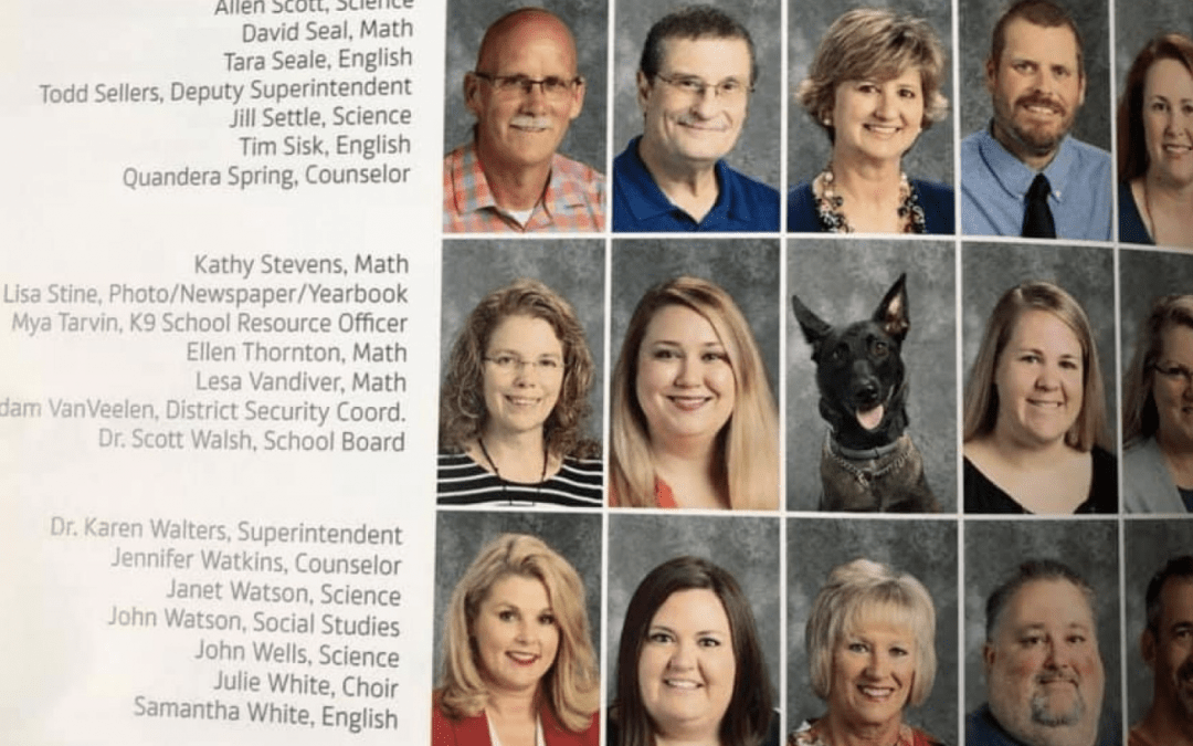 Police K9 Included in High School Yearbook