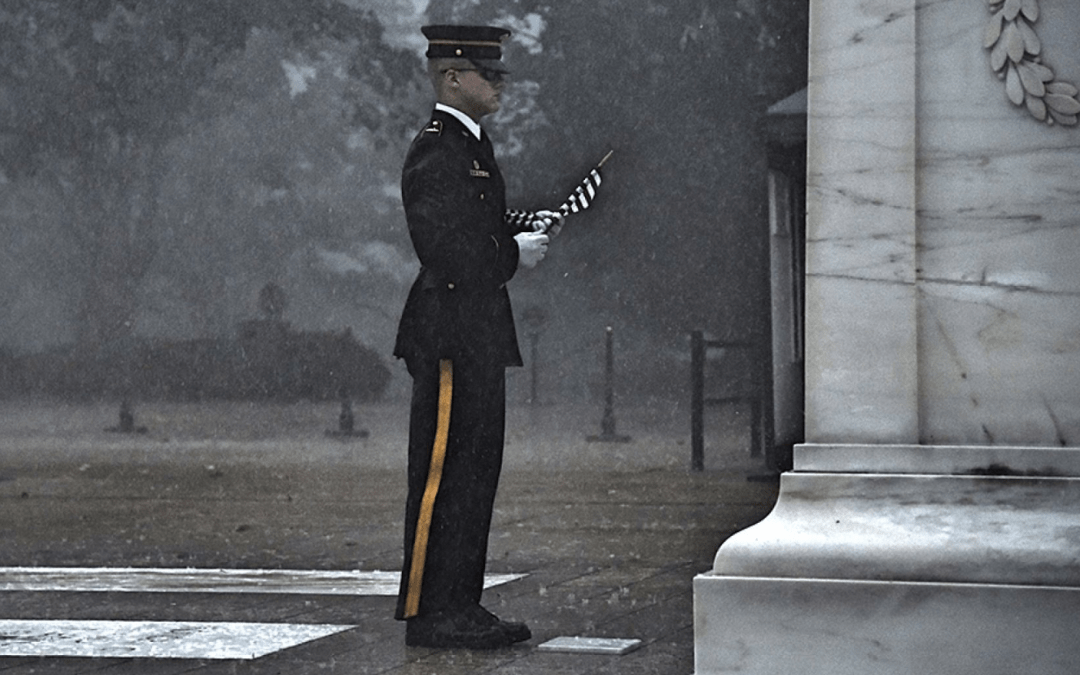 Soldier Captures Spirit of Memorial Day During Thunderstorm