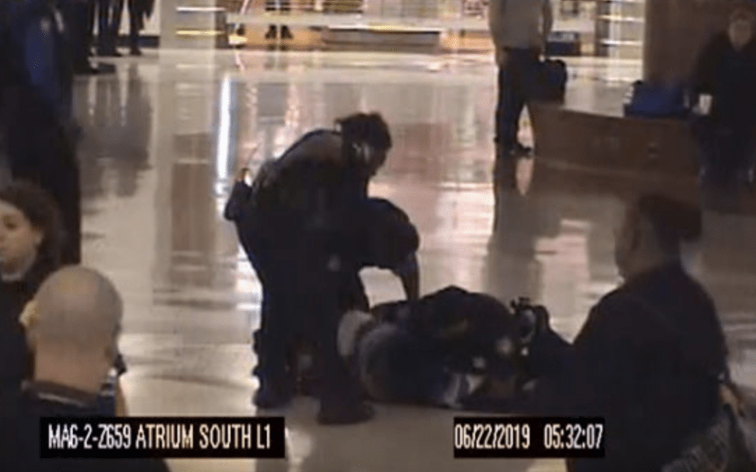 Shocking video shows thwarted airport kidnapping