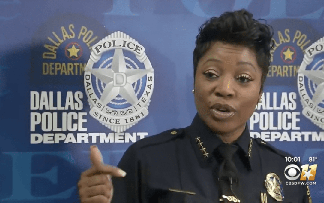 Dallas Chief Renee Hall says criminals are 'forced to commit violent acts'