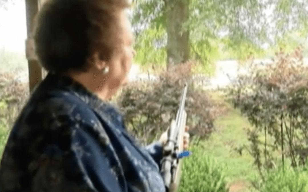 Gun-wielding grandmother holds wanted man at gunpoint
