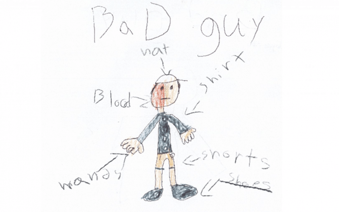 Children provide sketches to help police catch 'bad guy'