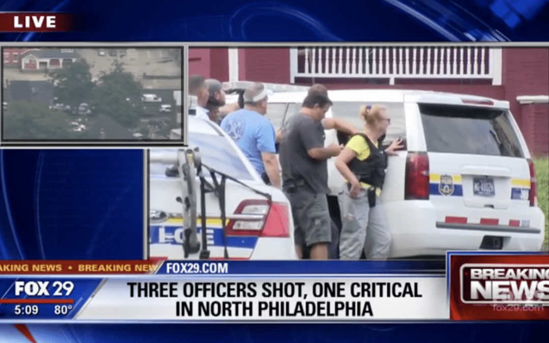 5 Philadelphia police officers wounded in shootout; 1 hurt in collision