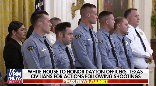 President Trump Awards Medal of Valor to Dayton Police Officers
