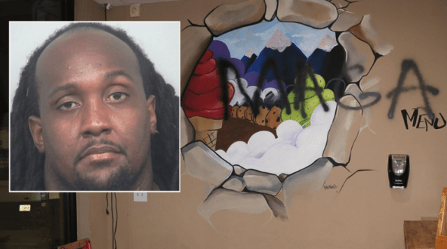 Ex-NFL player accused of trashing businesses to make it look like hate crime