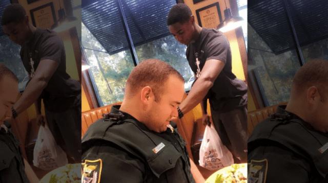 College student prays for deputy during public encounter