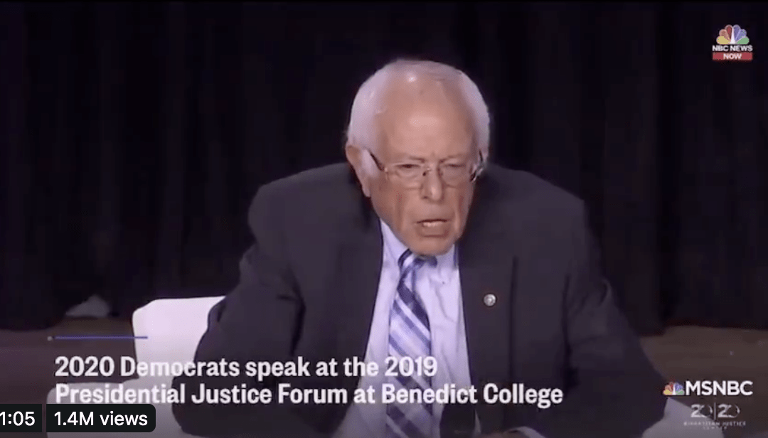 Bernie Sanders tells black student to be polite with police to avoid being 'shot in the back of the head'