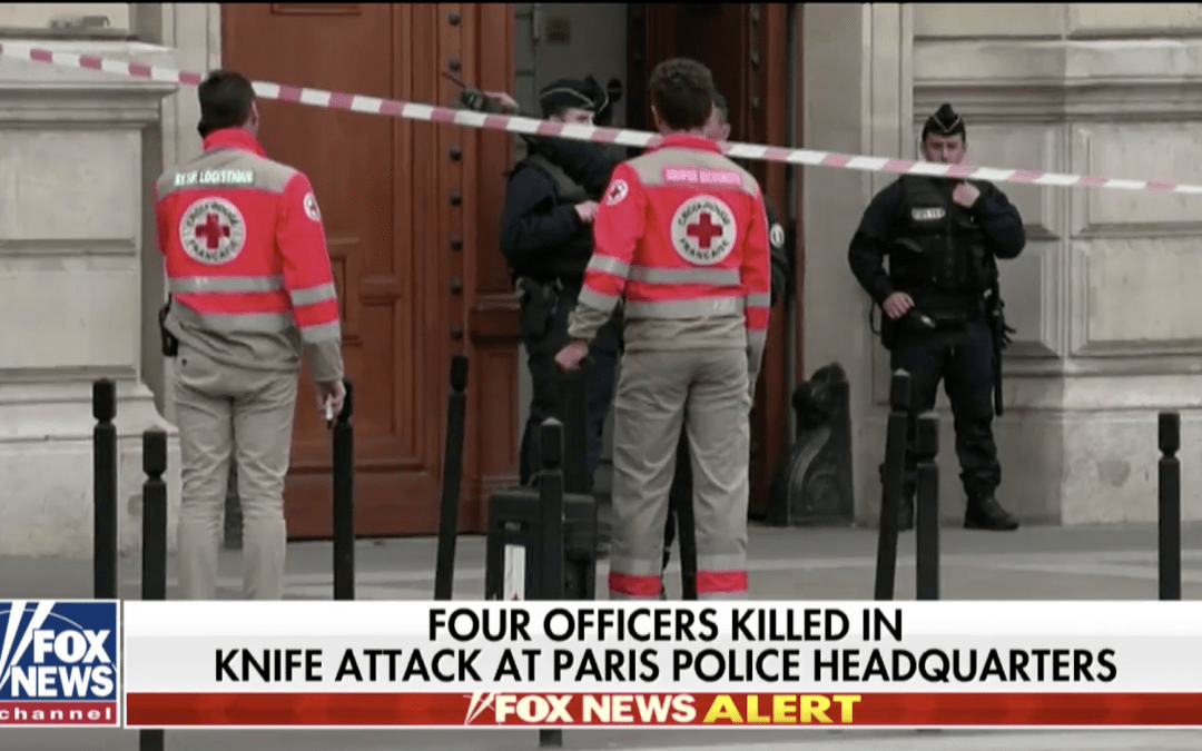 Assailant armed with knife kills four officers inside Paris police headquarters