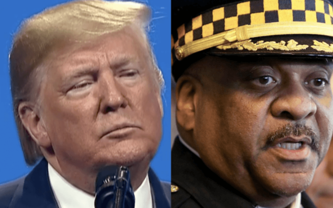 Trump tears into Chicago's absentee police superintendent during law enforcement conference