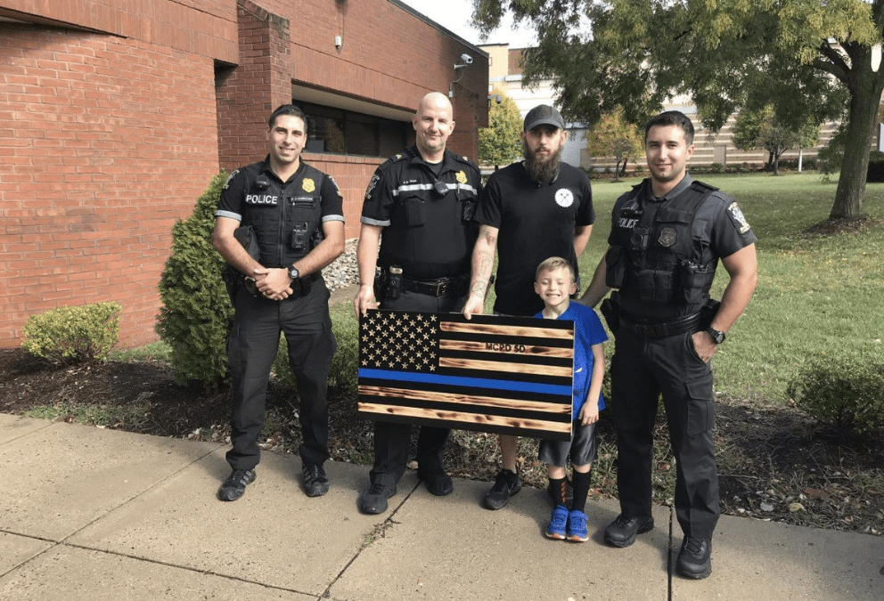 County executive prohibits police from displaying thin blue line flag