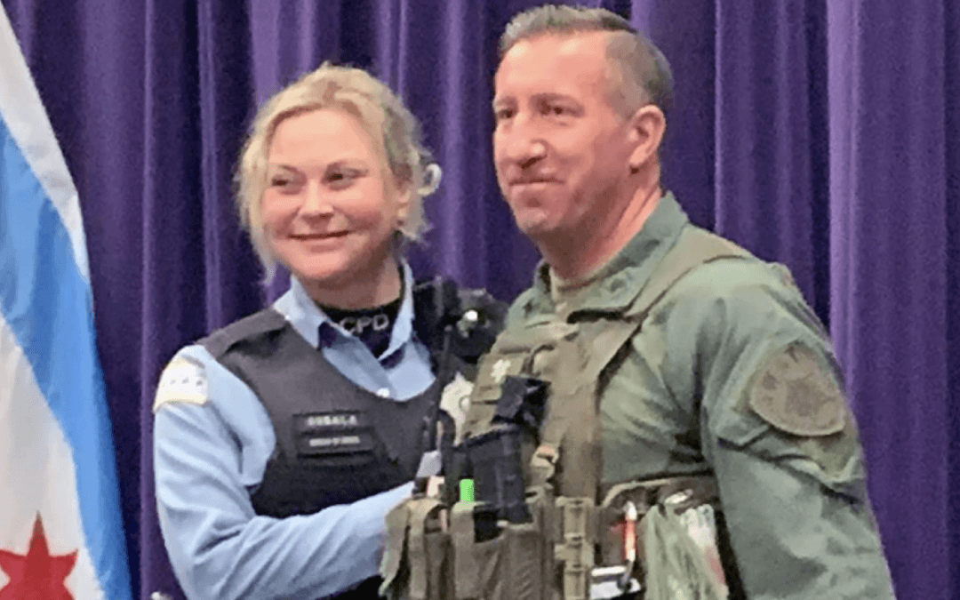 Sergeant runs race in SWAT gear, saves a life, then proposes marriage, all in matter of moments
